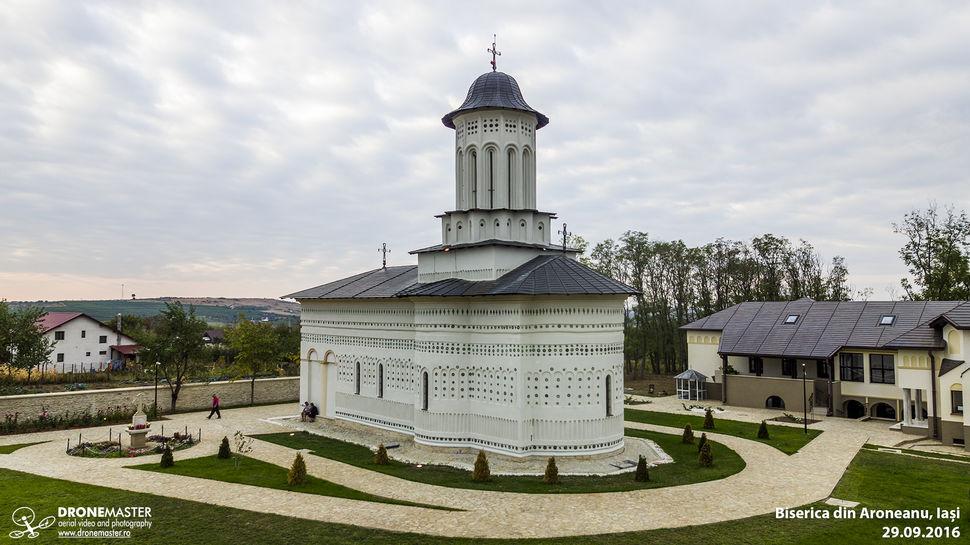 Biserica din Aroneanu, fotografie aeriana