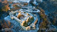 Vedere aeriana Cetatea de Scaun a Sucevei