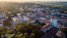 Zona centrala a Sucevei - fotografie aeriana cu drona