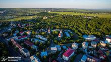 Manastirea Sf. Ioan cel Nou, Hotel Balada, Parcul Sipote, Centrul Sucevei - fotografie cu drona