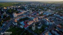 Biserica Sf. Dumitru, Statie Centru, Zona Piata Mare, Centrul Sucevei - fotografie cu drona
