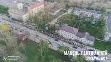 Marsul pentru viata, 2017, Suceava, fotografie aeriana, zona Spitalului Vechi