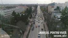 Marsul pentru viata, 2017, Suceava, fotografie aeriana, zona Inspectoratului Judetean de Politie