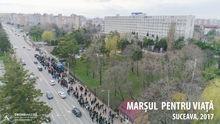 Marsul pentru viata, 2017, Suceava, fotografie aeriana, zona spitalului judetean
