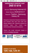 Dimensiune viewport browser mobil