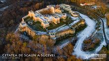 Cetatea Sucevei, vedere aeriana